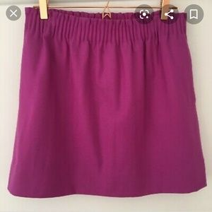 J Crew wool sidewalk paper bag fuchsia skirt